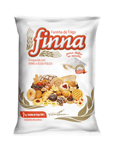 Finna wheat flour type 1, plastic packaging
