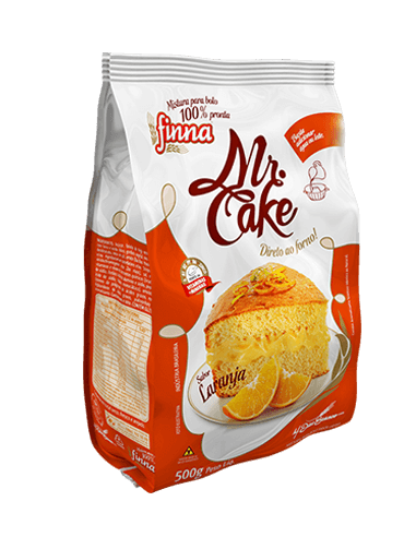 Finna Mr. Cake Laranja - 500g